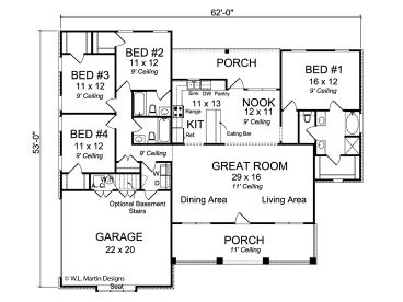 Single story house plans with side entry get house for House plans with bedrooms together