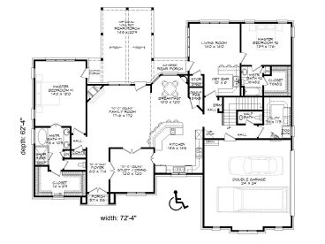 1st Floor Plan, 062H-0015