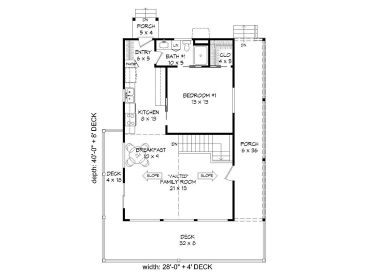 Cabin House Plans Vacation Cabin House Plan with Wrap Around Deck
