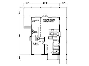 1st Floor Plan, 010H-0006