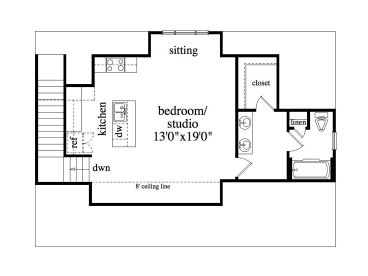 Garage apartment plans 3 car garage studio apartment 053g 0003 2nd floor plan malvernweather Images
