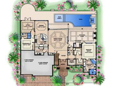 Mediterranean Home Plans Luxurious Mediterranean House Plan 037h