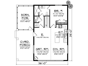 1st Floor Plan, 020H-0477