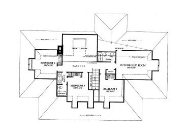 2nd Floor Plan, 063H-0009