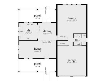 1st Floor Plan, 052H-0026
