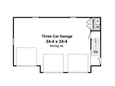 Carriage house plans 3 car garage apartment plan 001g for 3 door apartment floor plan