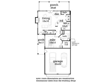 1st Floor Plan, 021H-0261