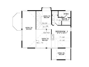 2nd Floor Plan, 025L-0005