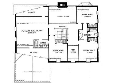 2nd Floor Plan, 063H-0004