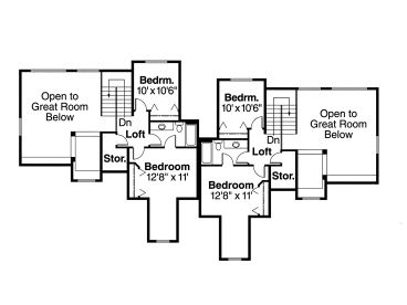2nd Floor Plan, 051M-0009