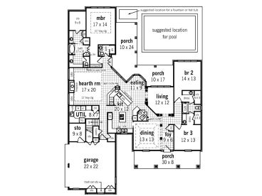 Craftsman home plans one story craftsman house plan with for House plans with bonus room one story