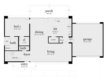 1st Floor Plan, 052H-0081