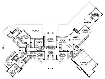 floor plan - Unique House Plans