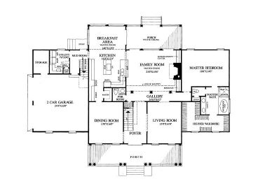 1st Floor Plan, 063H-0016
