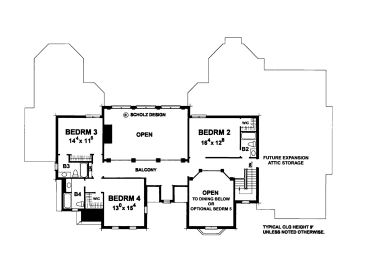 2nd Floor Plan, 031H-0331