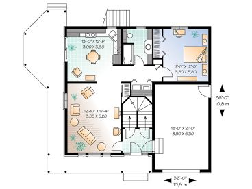 1st Floor Plan, 027M-0011