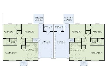 Duplex House Plans Ranch Duplex Plan 025M0084 at