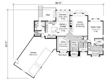 Ranch House Plans With Angled Garage