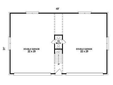 Garage Apartment Plans | 4-Car Garage Apartment Plan # 006G-0099 ...