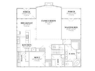 1st Floor Plan, 073H-0041