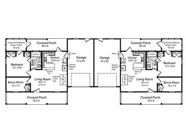 Layout plan for duplex house house plans for Duplex plans for seniors