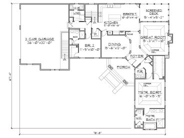 Plan 055h 0004 find unique house plans home plans and for L shaped ranch plans