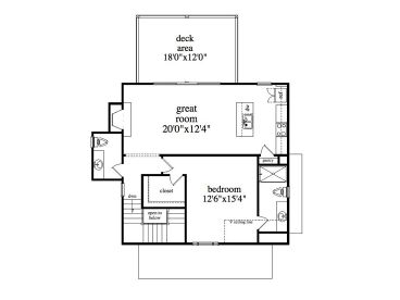 2nd Floor Plan, 053H-0090