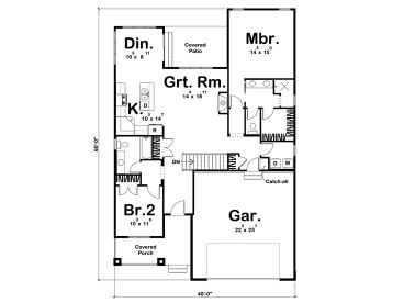Empty nester house plans 1 story bungalow design makes a for Empty nester house plans with basement