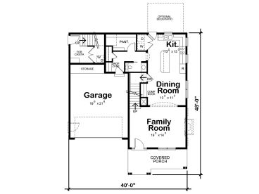1st Floor Plan, 031H-0366