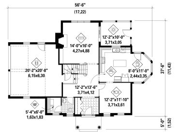1st Floor Plan, 072H-0236