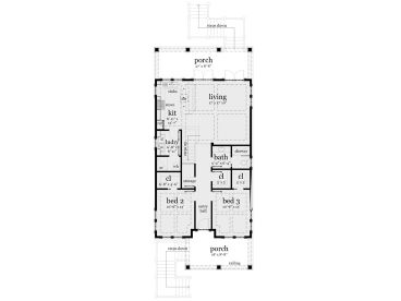 Beach House Plans Narrow Lot Beach House Plan 052H 0092 at