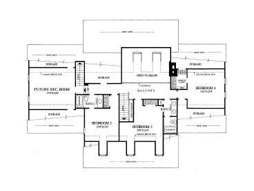 2nd Floor Plan, 063H-0016