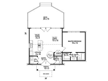 1st Floor Plan, 006H-0140