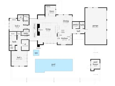 1st Floor Plan, 052H-0091