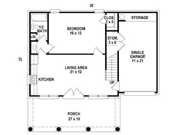 Carriage House Plans 1 Story Carriage House Plan With