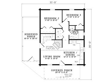 1st Floor Plan, 025L-0022
