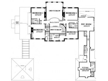 2nd Floor Plan, 063H-0024