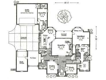 1st floor plan - Unique House Plans