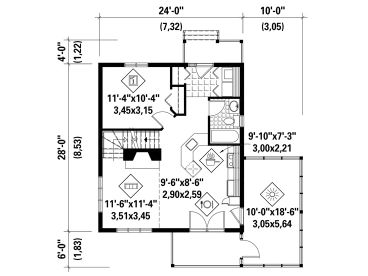 1st Floor Plan, 072H-0213