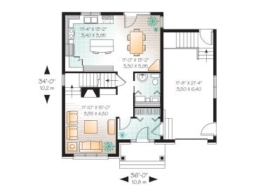 1st Floor Plan, 027H-0163