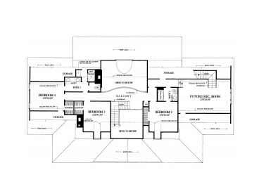 2nd Floor Plan, 063H-0146