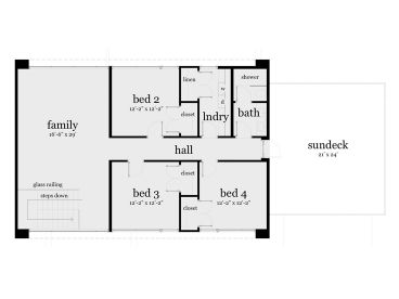 2nd Floor Plan, 052H-0081