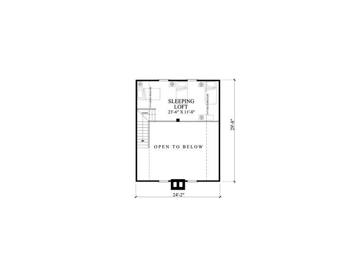 2nd Floor Plan, 063H-0215