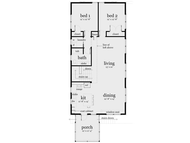 1st Floor Plan, 052H-0087