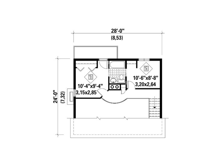 2nd Floor Plan, 072H-0003