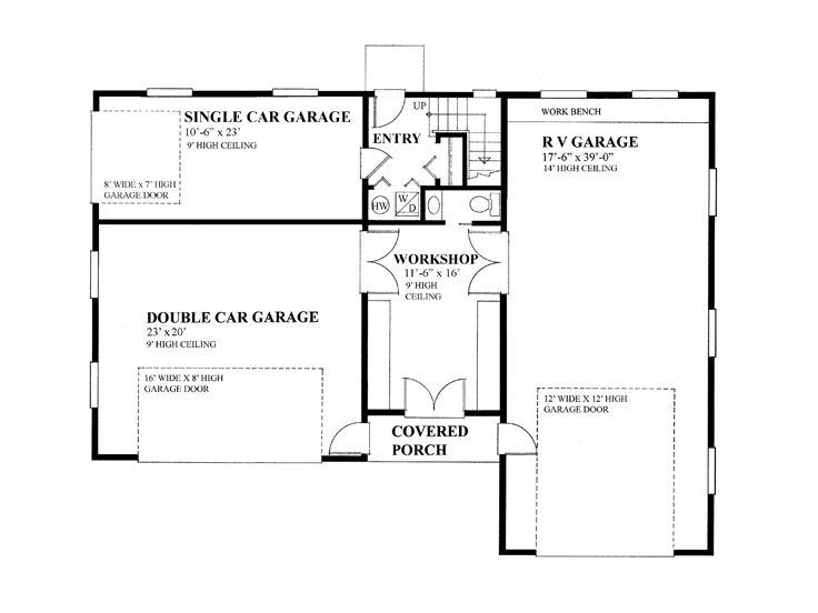 Garage apartment plans garage apartment plan with 3 car bays and 1st floor plan 010g 0017 malvernweather