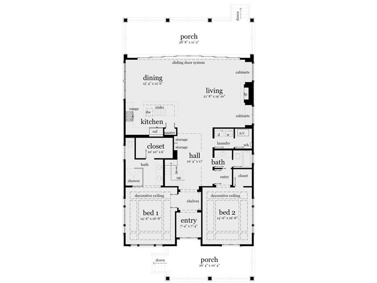 1st Floor Plan, 052H-0039