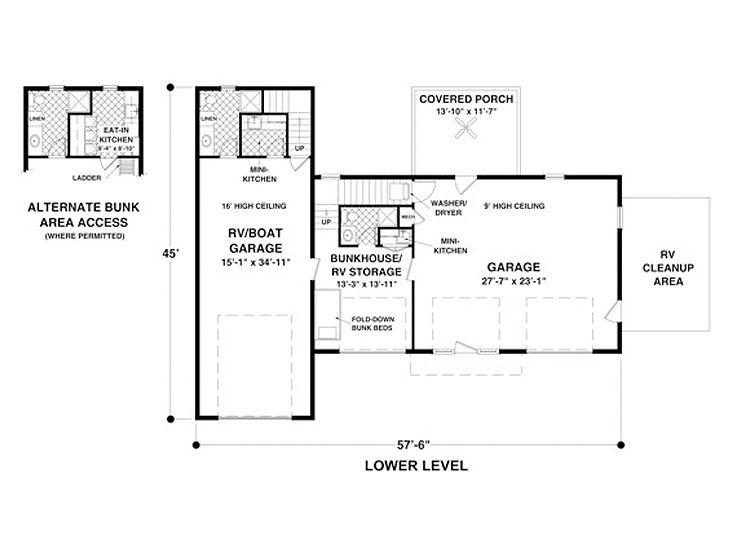 Carriage House Plans Carriage House Plan With Rv Bay