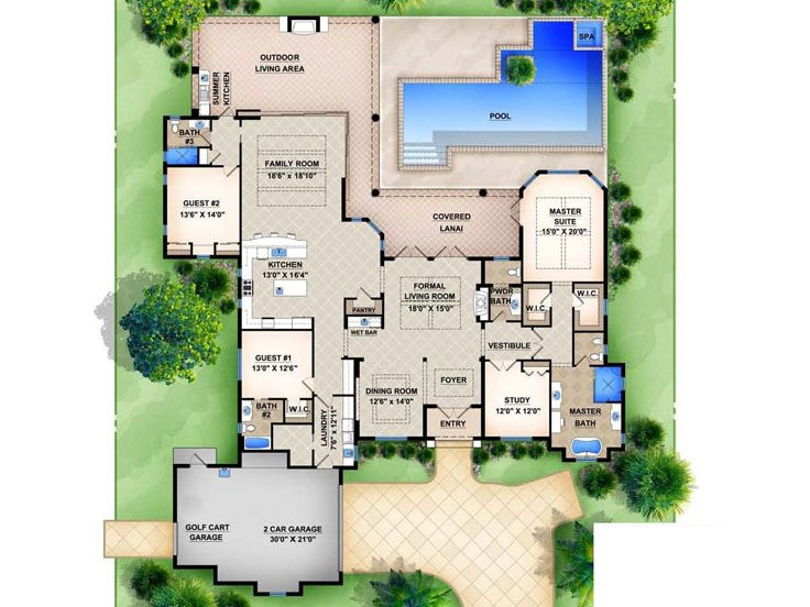 Mediterranean home plans luxury mediterranean house plan design 070h 0002 at - Mediterranean house floor plans paint ...