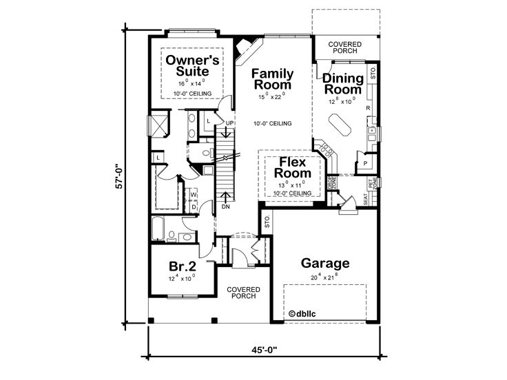 1st Floor Plan, 031H-0329